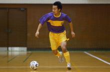高槻松原FCの沼田選手がフットサルクリニック。
